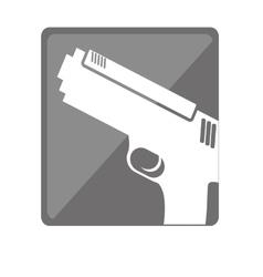 Single gun icon image vector
