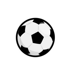 soccer ball flat icon element football vector image