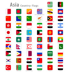 square asia national flags vector image