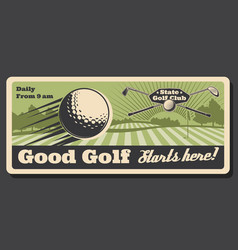 state golf club training and tournament course vector image