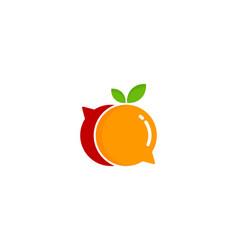 talk fruit logo icon design vector image