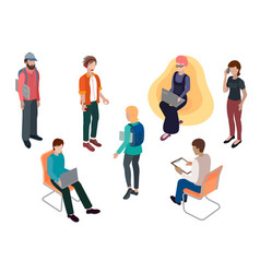 team of creative young people vector image