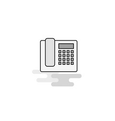 telephone web icon flat line filled gray icon vector image