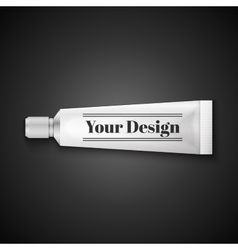 Tube Of Toothpaste Cream Or Gel Grayscale Silver vector