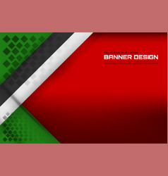 united arab emirates flag color backgrounds vector image