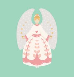 vintage christmas angel vector image