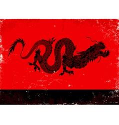 black dragon vector image vector image