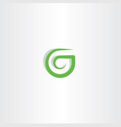 g letter logo green icon symbol design vector image