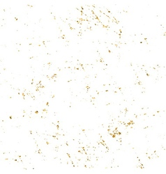 Gold grunge texture white vector image