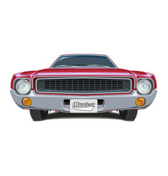 muscle car poster vector image