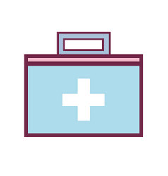suitcase with medical first aid kit vector image