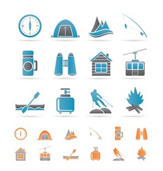 travel and vacation objects vector image vector image