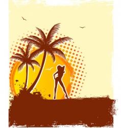 tropic girl vector image vector image