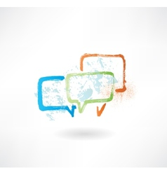 Coloured speech bubbles brush icon vector