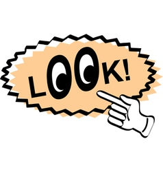 look animation vector image