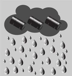Petroleum rain vector image