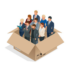 professional business team concept multi-cultural vector image