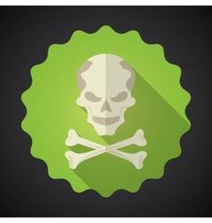Crosed Bones Flat icon background vector image