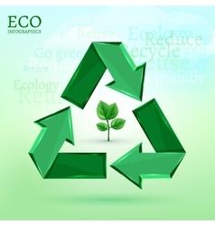 ecology bio infographics vector image vector image