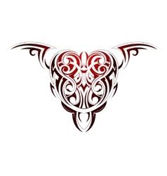 Heart shape tattoo vector image