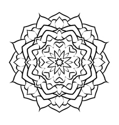 mandala arabic3 vector image vector image