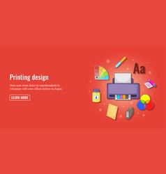print design banner horizontal man cartoon style vector image vector image