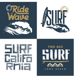 surfing set 002 vector image