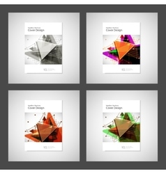 Abstract Triangle Brochure design Modern vector image vector image