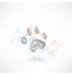 dog track grunge icon vector image