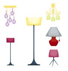 Flat electric lantern lamp lights fitting vector
