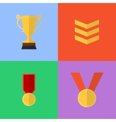 flat game icons vector image vector image
