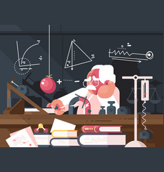 scientist physics makes tests vector image vector image
