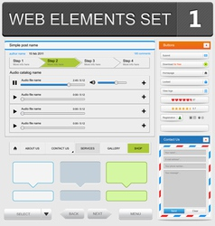 web elements set1 vector image vector image