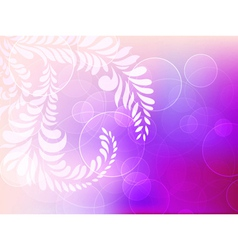 Abstract background with circles and floral vector