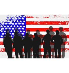 American People protesting development vector image