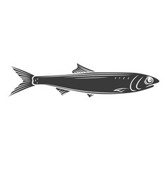 Anchovy fish glyph icon vector