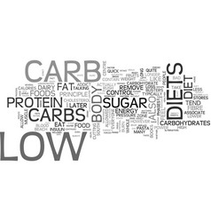 are you ready for low carb text word cloud concept vector image