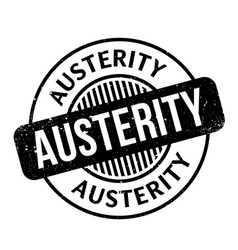 austerity rubber stamp vector image