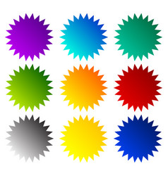 Badge starburst price flash shapes vector