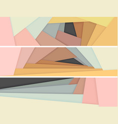 Banners of colored paper lie on each other vector