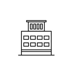 building outline icon element of architecture vector image