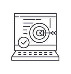 Business accuracy icon linear isolated vector