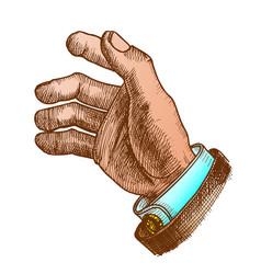 Businessman hand make gesture color vector