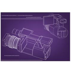camera on purple vector image
