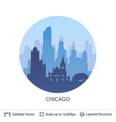Chicago famous city scape vector