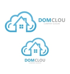 Cloud and house logo concept vector
