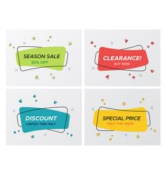 confetti blast rectangle promo sale tag collection vector image