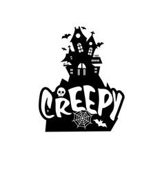 creepy typography design card vector image