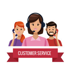 Customer service and support vector