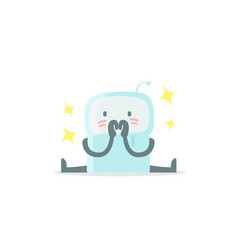 Emoji sticker icon baby cute small new robot vector